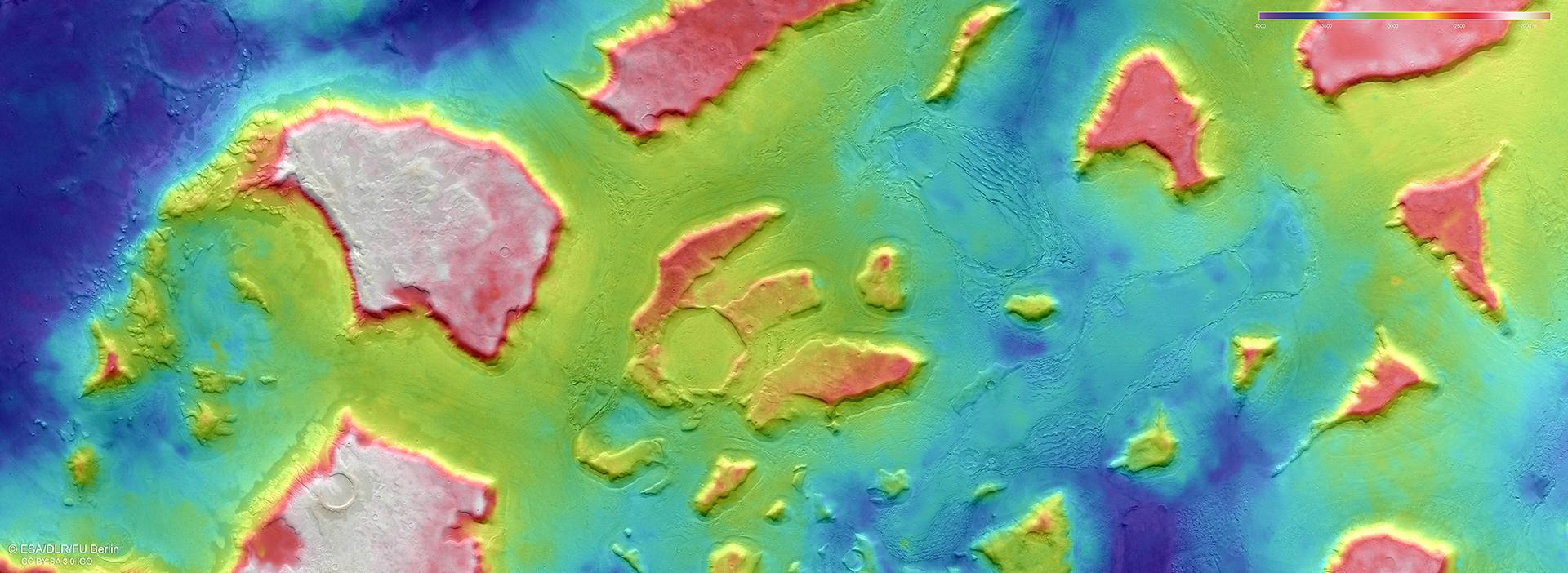 Topographic image map of the northern part of Deuteronilus Mensae