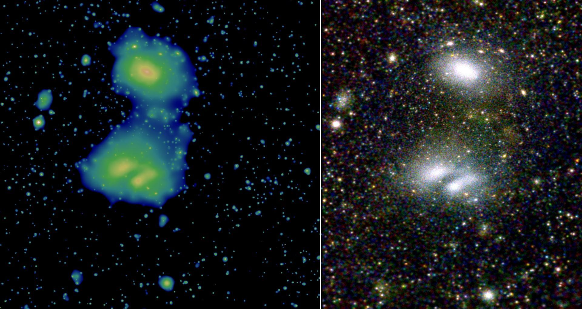 Two interacting galaxy clusters, A3391 and A3395