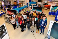 Group picture of the participants from nine African countries with the DLR_School_Labs team in Cologne: Joy and fascination unite