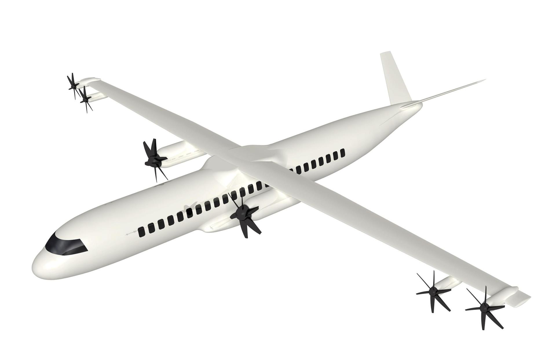 Regional aircraft with additional e-propellers near the wingtips