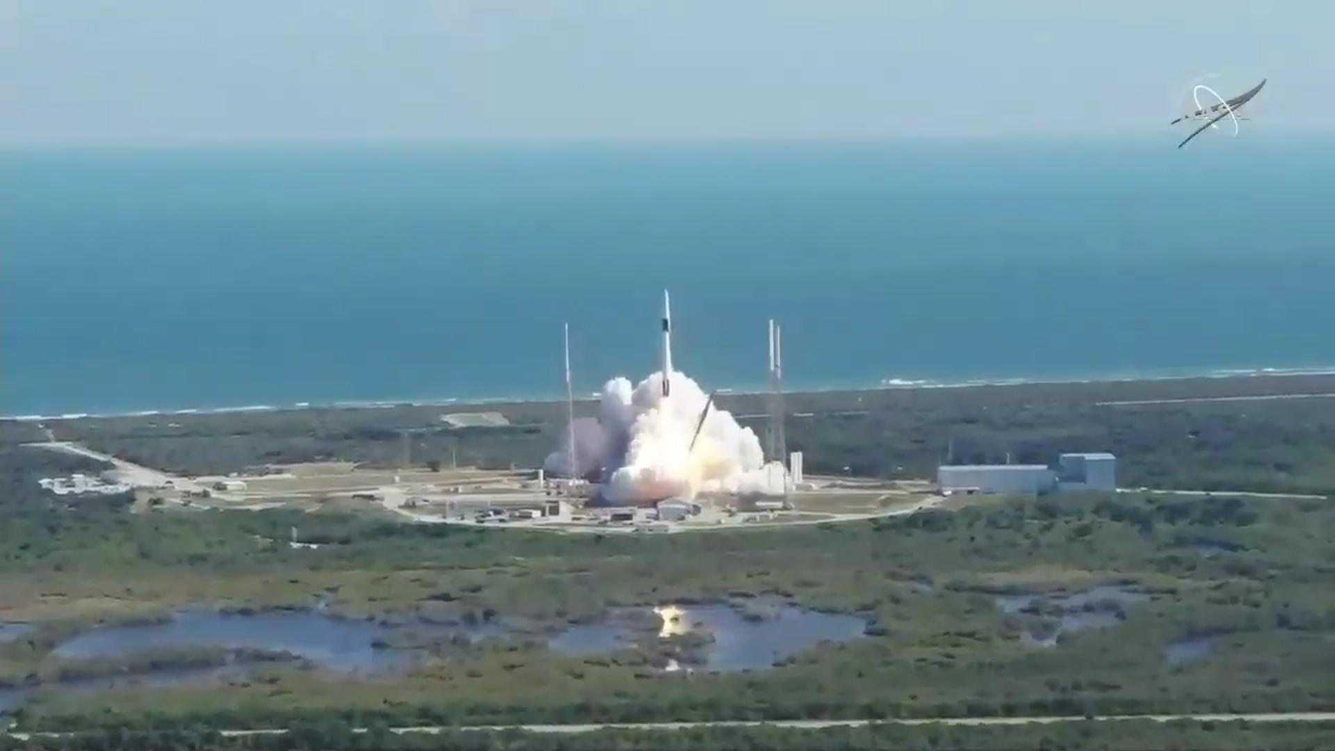 Launch of SpaceX-19 with CIMON-2
