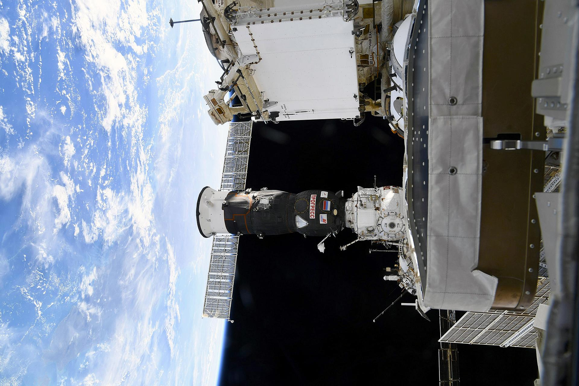 Progress MS-13 cargo spacecraft on the Russian segment of the ISS