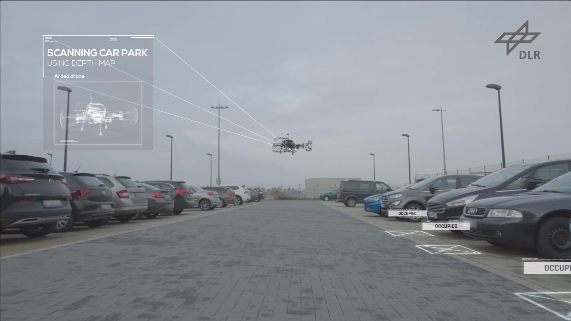 Parking space search by drone