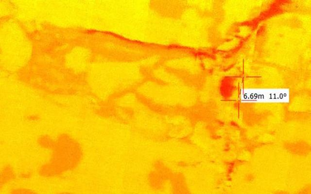 Image of an ice surface in thermal infrared (TIR)