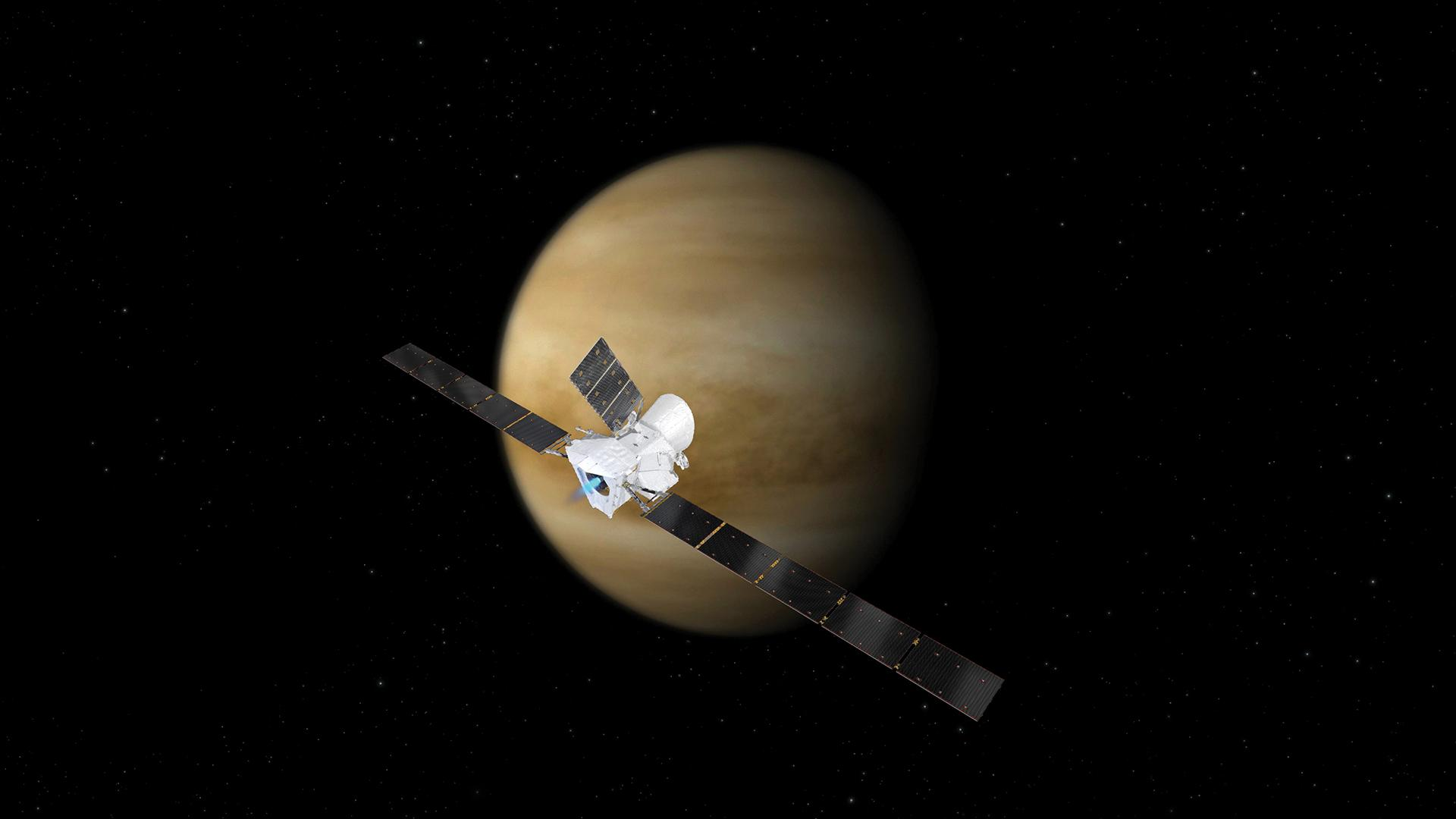 First Venus flyby of BepiColombo on the way to Mercury