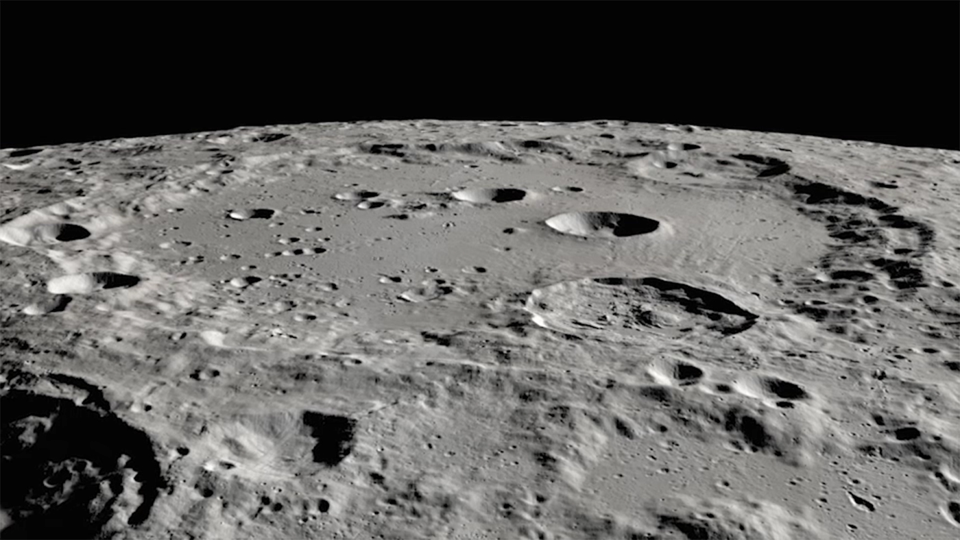 Clavius Crater on the Moon   DLR Portal