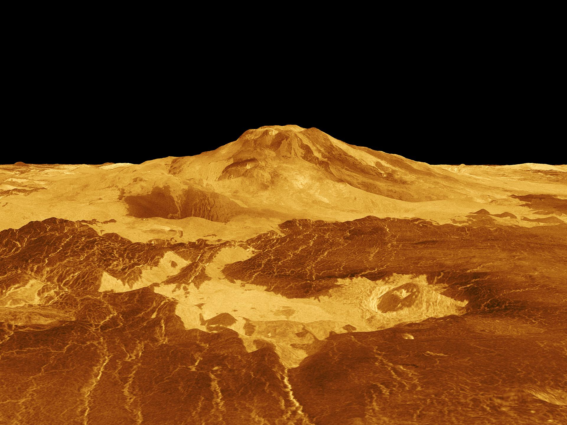Search for traces of volcanism in the Venusian atmosphere