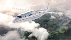 Artist's impression of an electric passenger aircraft.