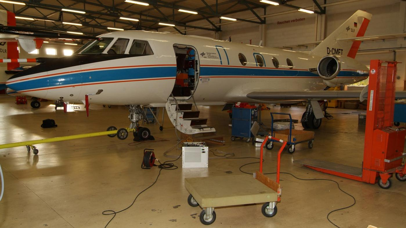 Mission preparations in the maintenance hangar