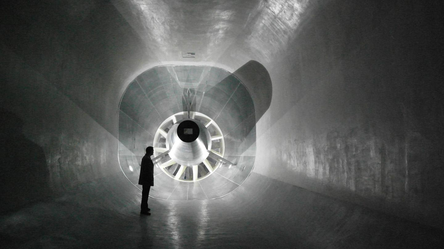 The low-speed wind tunnel