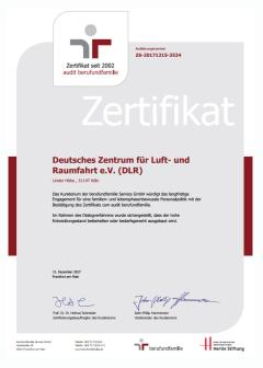 Preview image certificate 'audit berufundfamilie 2017'