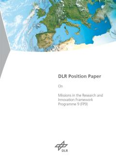 DLR Position Paper On Missions in the Research and Innovation Framework Programme 9