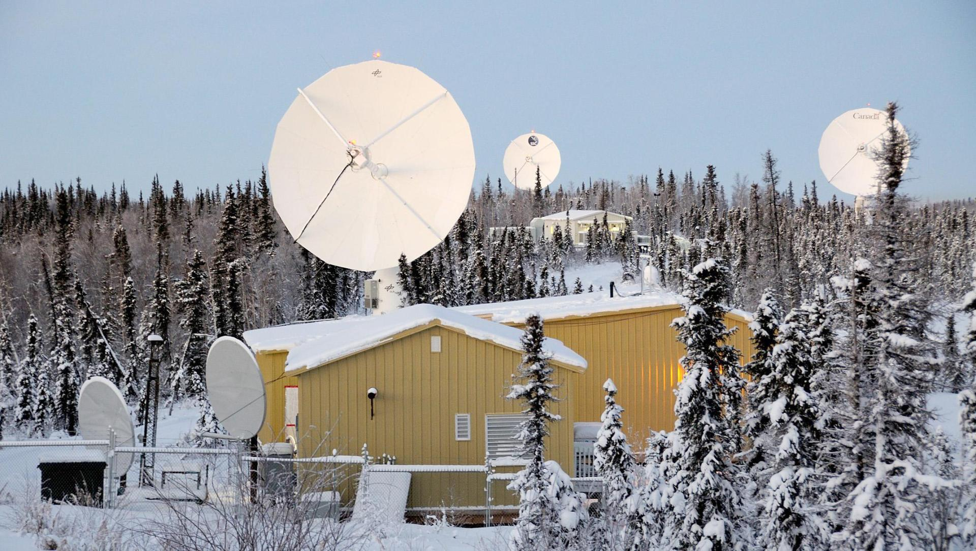 International Satellite Station Facility (ISSF) of the Earth Observation Center in Inuvik, Kanada