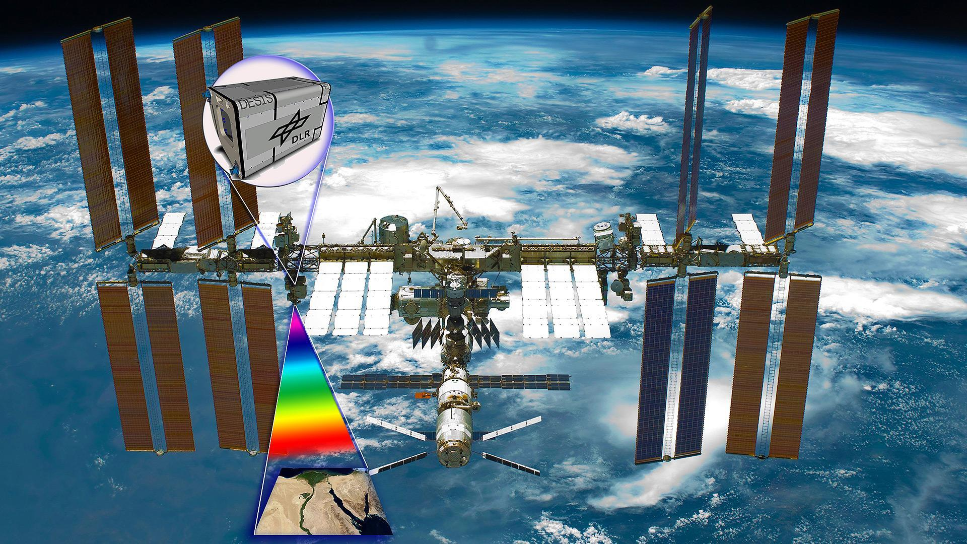 Artist's impression of DESIS on the ISS