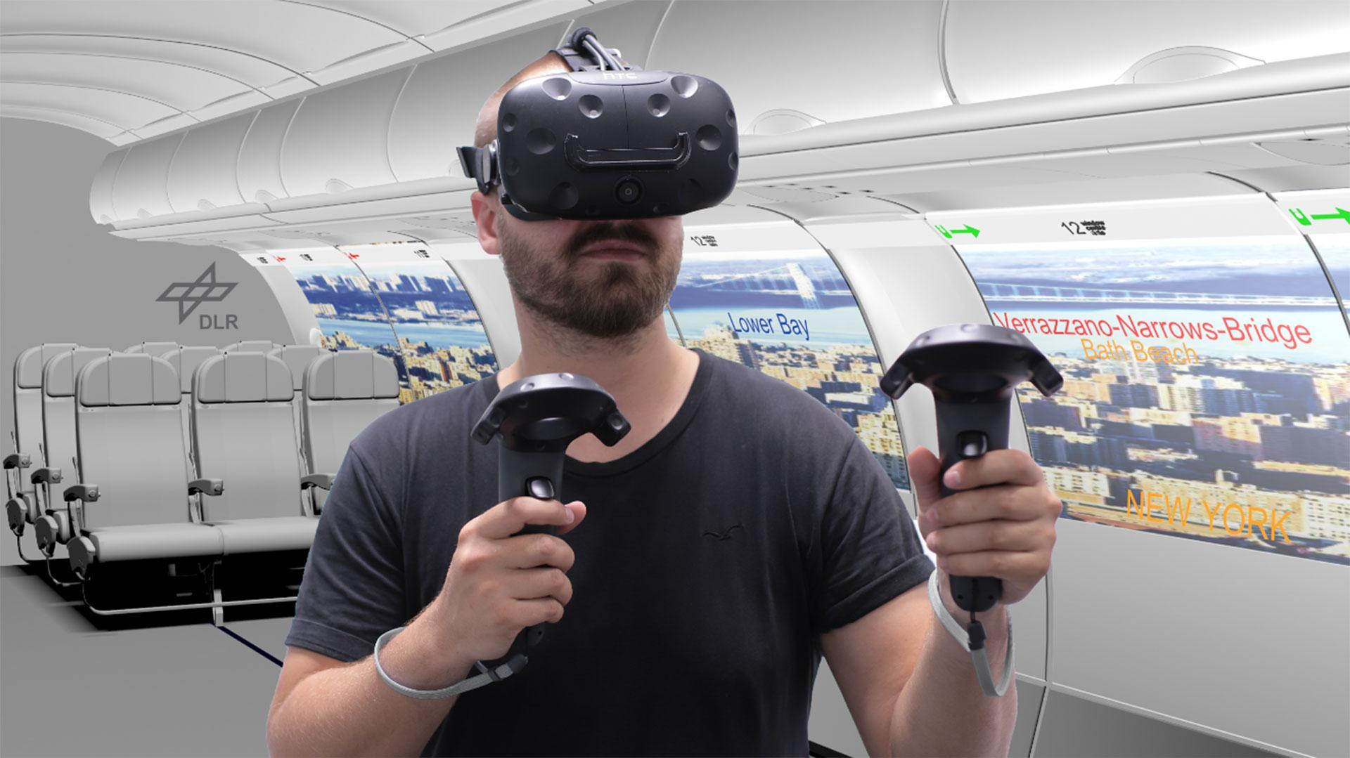Using virtual reality to design new aircraft
