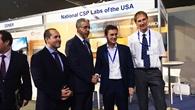Besuch beim DLR%2dStand auf der Solar Paces Konferenz in Rabat, Marokko