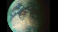 Titan %2d Saturnmond mit Kohlenwasserstoffgewässern