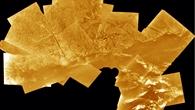 Verzweigtes System von Abflusskanälen an der Huygens%2dLandestelle