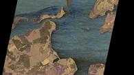 Deutschland, Hiddensee %2d Multipolarisation zeigt unterschiedliche Landnutzung und Vorgänge über und auf dem Wasser