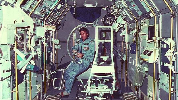Ulf merbold während der spacelab 1 mission