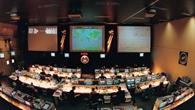 Blick in den Hauptkontrollraum während der D%2d2 Mission
