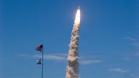 Start der Raumfähre Discovery mit Thomas Reiter an Bord