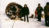 Sojus TM%2d22 Kapsel nach der Landung