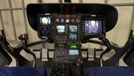 Cockpit des Fliegenden Hubschrauber Simulator EC 135 ACT/FHS