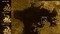Eine Insel in Ligeia Mare, die verschwindet und wieder auftaucht