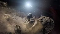 Zerbrochener Asteroid, künstlerische Darstellung