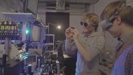 Studententeam der Universität Frankfurt am Main mit ihrem Experiment EXCISS
