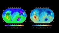 Karten der Krustendicke und des Oberflächenwärmeflusses des Mars