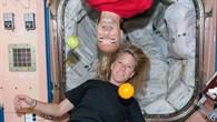 Luca Parmitano und Karen Nyberg auf der ISS