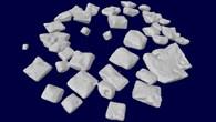 Rekonstruierte 3D%2dPartikel in einer SETA%2d3%2dProbe