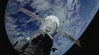 Sojus%2dRaumschiff an der ISS angedockt