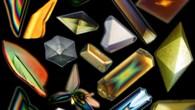 In der Schwerelosigkeit gewachsene Porteinkristalle