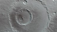 Anaglyphenbild des Hadley-Kraters