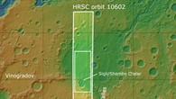 Topographische Übersichtskarte der Umgebung von Ladon Valles