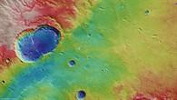 Topographische Bildkarte von Ladon Valles sowie der Krater Sigli und Shambe