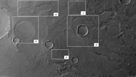 Nadir%2dAufnahme von Tempe Terra mit Darstellung ausgewählter Gebiete