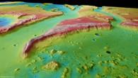 Tiu Vallis %2d Perspektivische Ansicht von Südosten nach Nordwesten