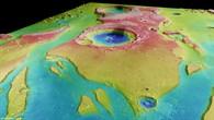 Tiu Vallis %2d Perspektivische Ansicht von Nordwesten nach Südosten