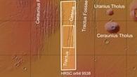 Topographische Übersichtskarte des Nordens von Tharsis