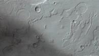 Anaglyphenbild des Übergangs von Acidalia Planitia ins Marshochland
