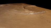 Perspektivischer Blick von Südwesten nach Nordosten auf den Krater Oraibi