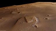 Perspektivischer Blick von Nordwesten auf eine 'Flussinsel' in Ares Vallis
