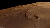Perspektivischer Blick von Nordwesten auf den Krater Oraibi