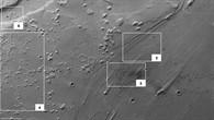 Senkrechte Draufsicht auf das Mündungsgebiet von Ares Vallis (Übersichtsbild)