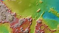 Topographische Bildkarte eines Teils der Region Phlegra Montes