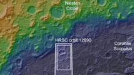 Topographische Übersichtskarte des Nordwestens von Hellas Planitia